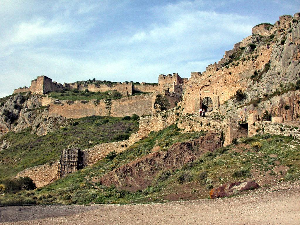 The walled gates of Acrocorinth
