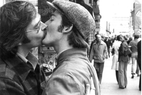 Toronto gay activists in 1976 protest