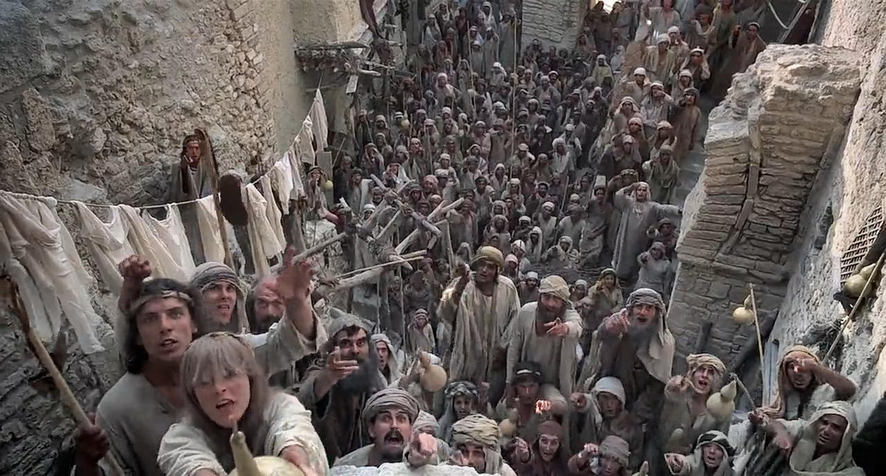"The movie was filmed in Tunisia, using the stage of Jeffirelli's ""Jesus of Nazareth"" (photo)"