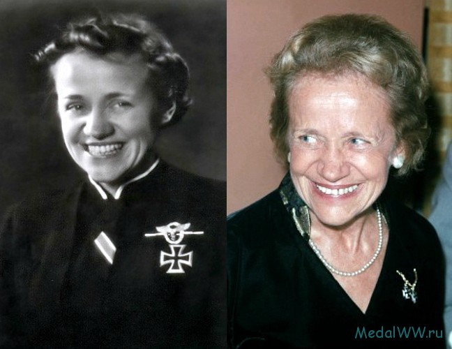 Hannah Reitsch wore the cross Hitler had given her until her dying days. (photo)