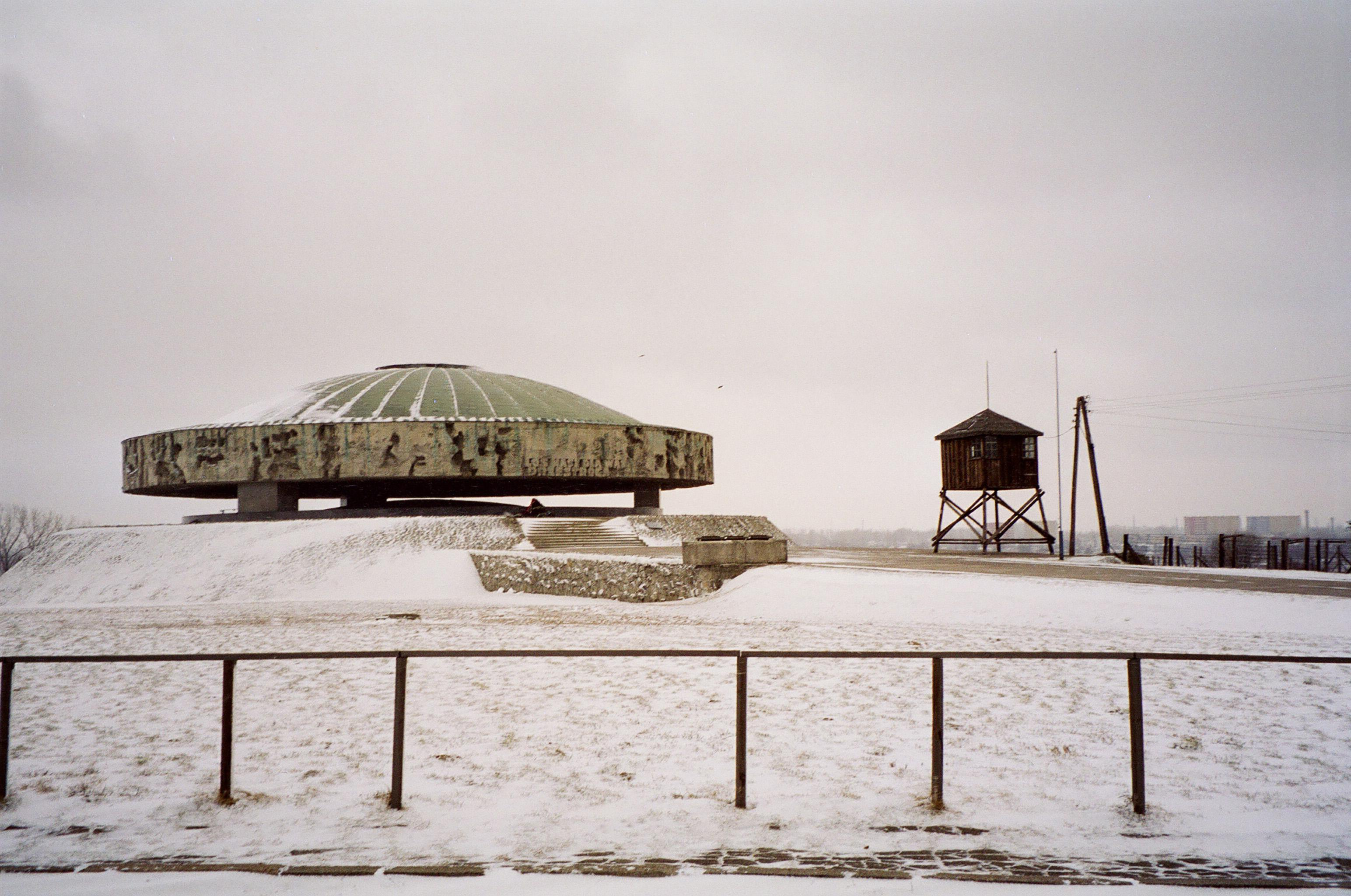 The dome hosts ashes from some of the burnt bodies of the prisoners - Majdanek, Poland