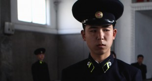 PYONGYANG, NORTH KOREA - APRIL 02:  A policeman stands at the entrance of Puhung Subway station situated more than 100M below the surface, it is also an atomic shelter, on April 2, 2011 in Pyongyang, North Korea. Pyongyang is the capital city of North Korea and the population is about 2,500,000.  (Photo by Feng Li/Getty Images)