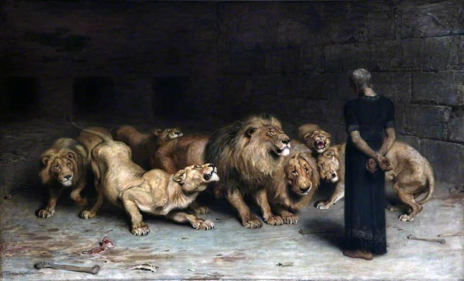 """Daniel in the Lion's Den"" by Briton Riviere (photo)"
