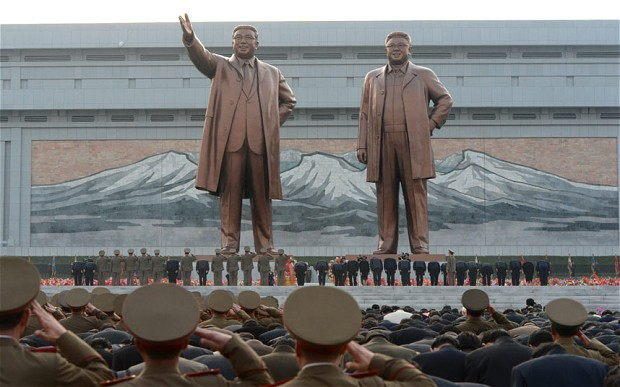 The statues of Kim Il Sung and Kim Jong Il (photo)