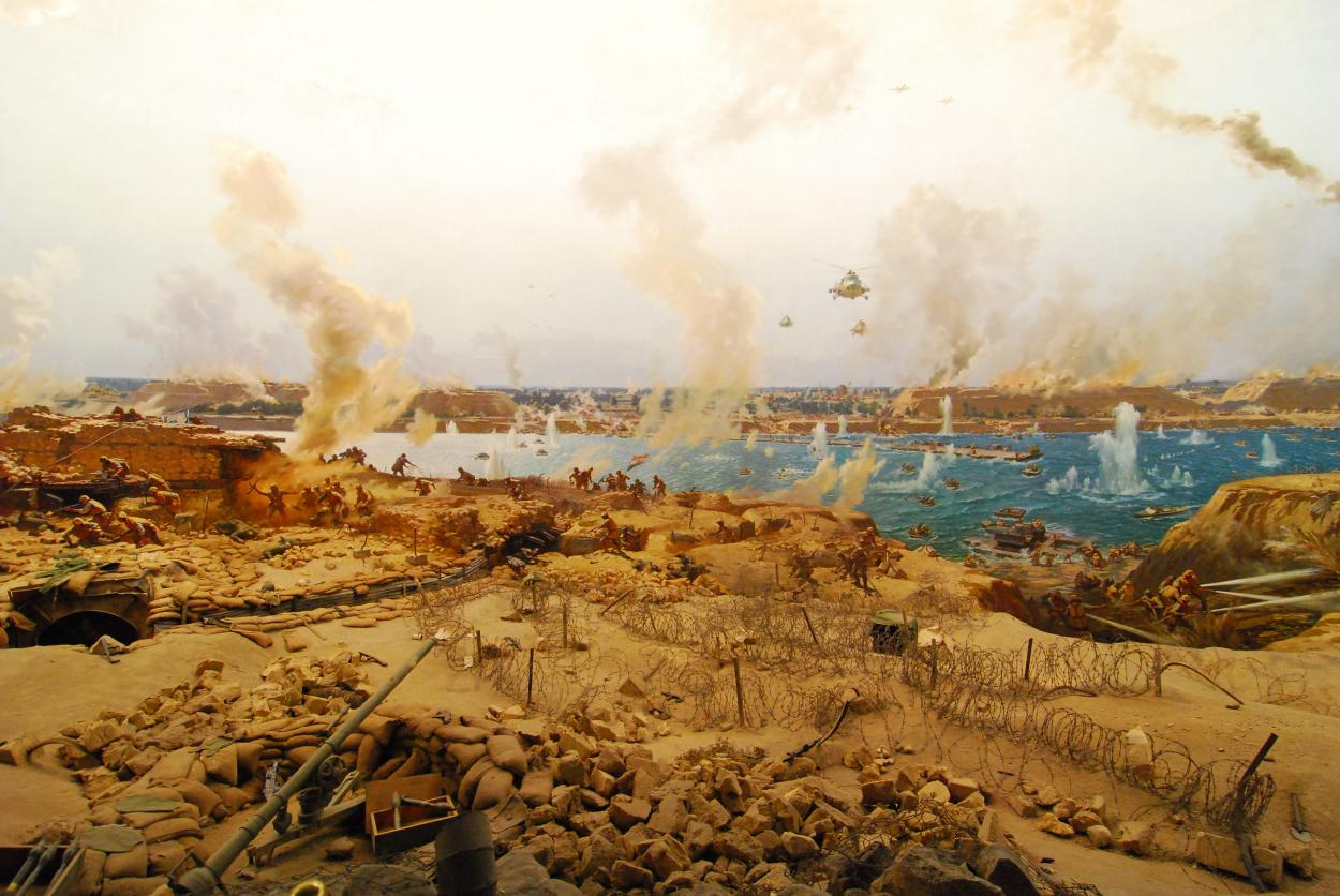 Painting depicting the war of 1973 (photo)