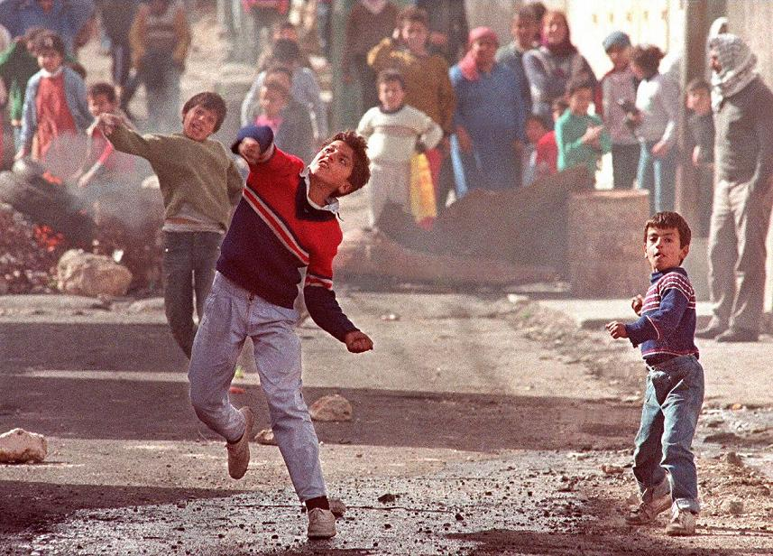 First Intifada, 1989 (ERIC FEFERBERG/AFP/Getty Images)