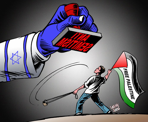 Every criticism of Israel and support to a free Palestine is silenced with the accusation of anti-Semitism