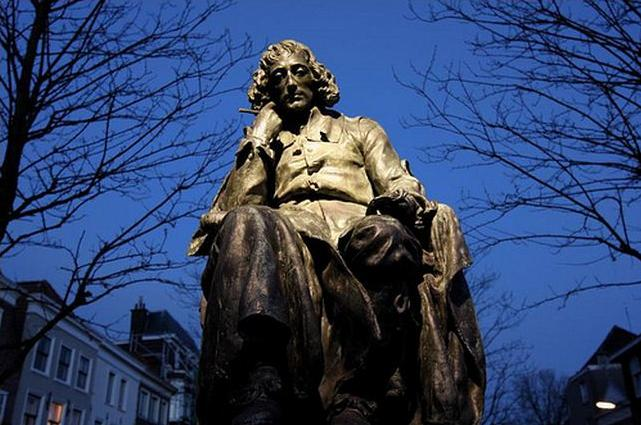 Baruch Spinoza was born in Amsterdam in 1632 and died at the age of 44 in Hague, probably of tuberculosis. (photo)
