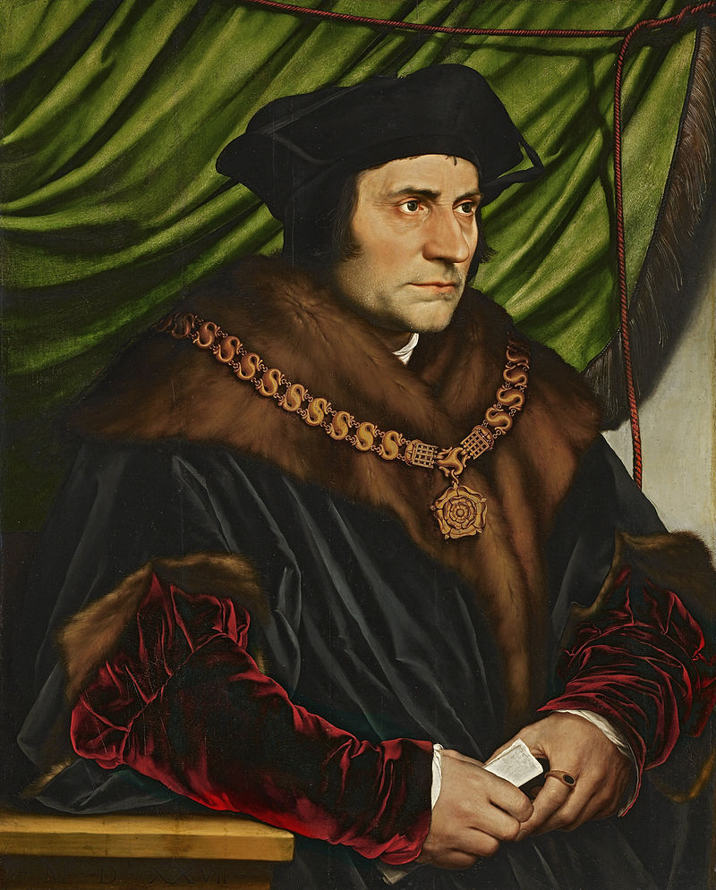 Thomas More (1478-1535), portrait by Hans Holbein the Younger, 1527 (photo)
