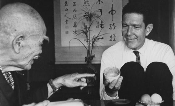 The composer John Cage is one of many intellectuals who met, listened to and were influenced by Suzuki. Others included Erich From, Allan Watts and Huston Smith. (photo)