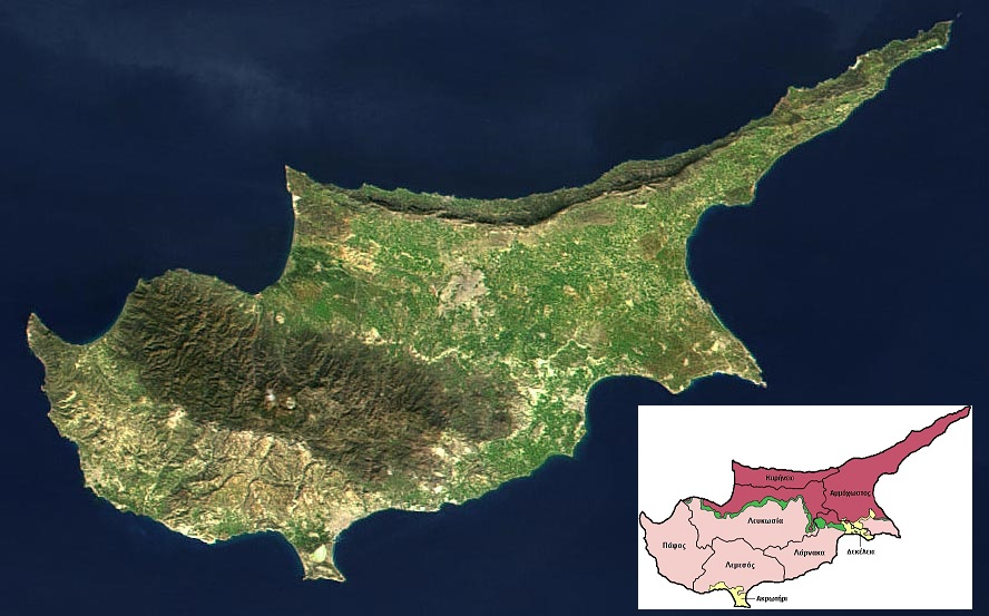 The north, fertile part is the Turkish side, as shown below (photo)