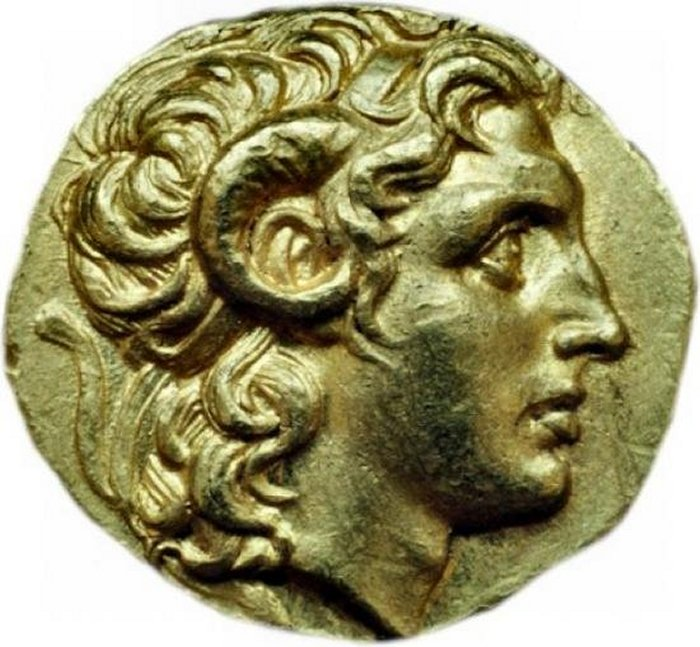 A coin depicting Alexander, 297-281 BC