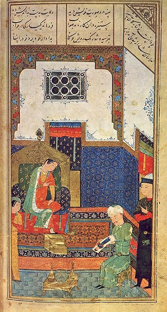 15th century Persian miniature painting from Herat (Afganistan) depicting Iskander, the Persian name for Alexander the Great (source)