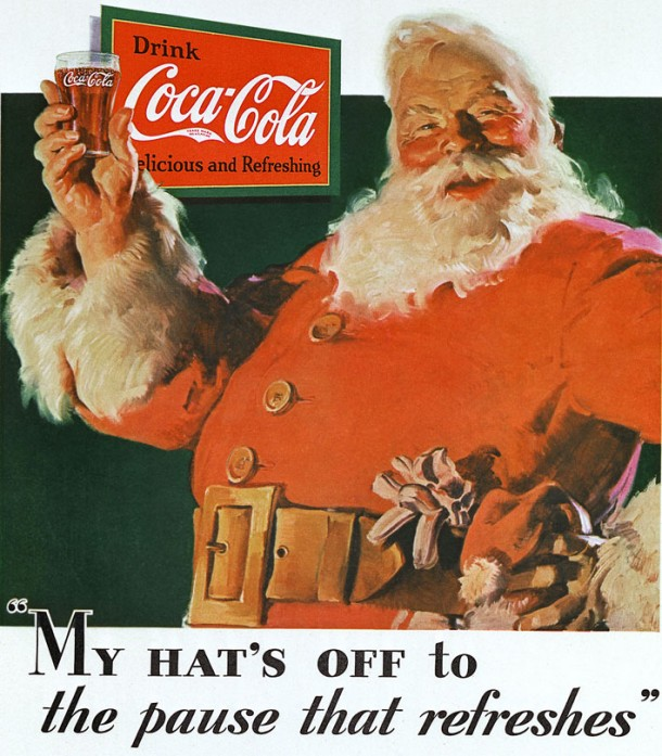 The first Coca-Cola ad with Santa Claus, 1931 (photo)